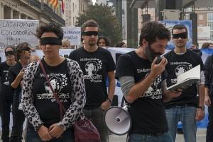 Protesta del COA. Foto: Diego Díaz (AraInfo)