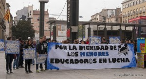 Protesta del COA. Foto: Diego Díaz (AraInfo) | [Galería]