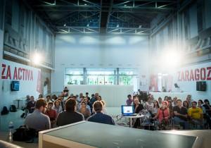 """La charla se enmarca en el Ciclo 'Viviendo la  la Economía social"""" de REAS Aragón. Foto: Nacho Bueno (imagen de la anterior conferencia)"""