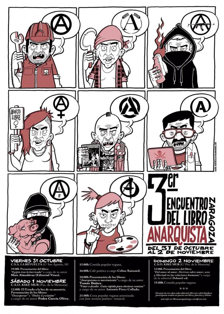 La Revuelta y CSO Kike Mur escenarios del tercer 'Encuentro del libro anarquista'