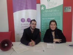 Imagen de la rueda de prensa del pasado miércoles. Foto: Consejo de Juventud de Zaragoza.