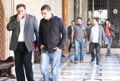 ERC, ICV y la CUP piden al govern que no de marcha atrás si prohíben el 9N