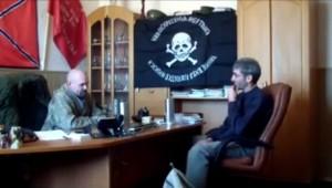 Fotograma de la vídeo entrevista realizada por Eloy Fontán a Mozgovoy.