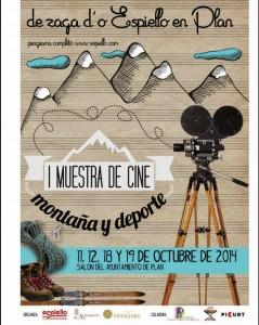 Cartel de la I Muestra de Cine 'Montaña y deporte' 2014 Cartel