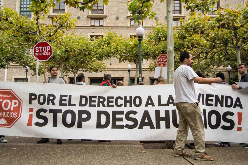 Stop Desahucios alerta de un inminente desalojo de un bloque de la SAREB en Zaragoza