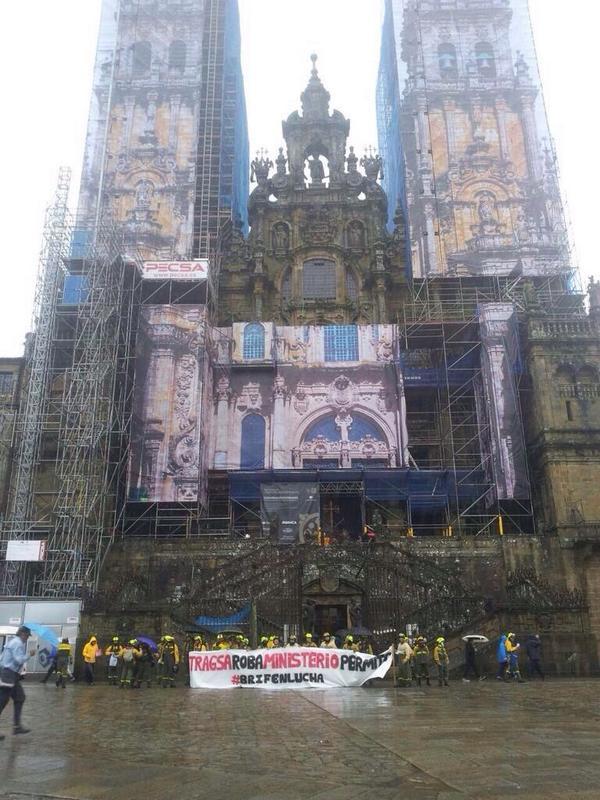 Las BRIF llevan su protesta a Santiago