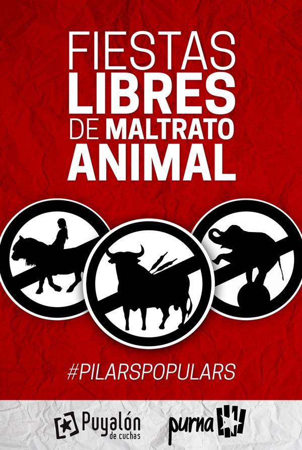 Puyalón de Cuchas y Purna inician una campaña contra el maltrato animal en las fiestas populares