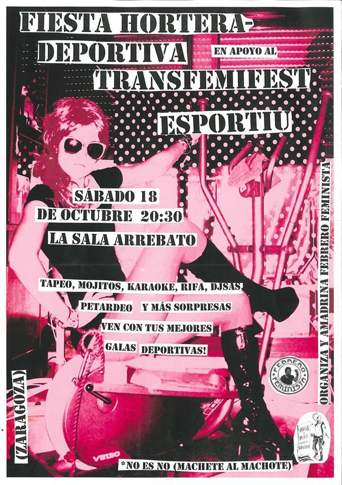 Arrebato acoge la fiesta de Febrero Feminista en apoyo al TransFemiFest Esportiu València