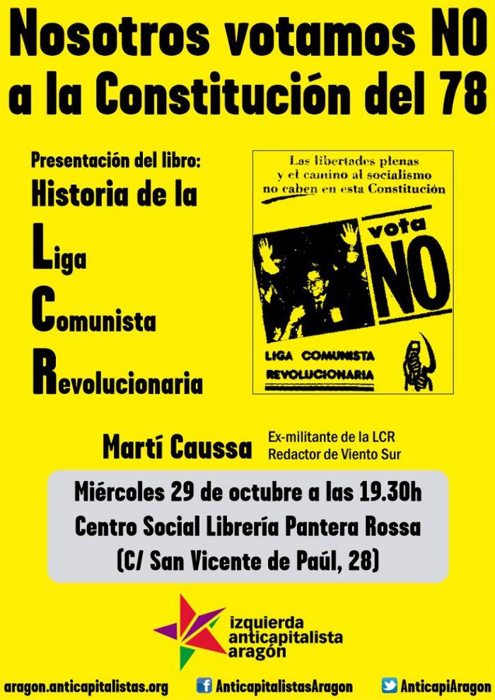 Presentación del libro 'Historia de la Liga Comunista Revolucionaria', con Martí Caussa