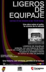 Durante el acto, el grupo oscense Viridiana representará la obra de teatro 'Ligeros de equipaje'.