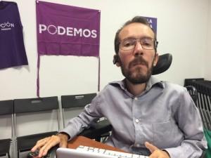 Pablo Echenique habla sobre las municipales en Zaragoza. Foto: AraInfo