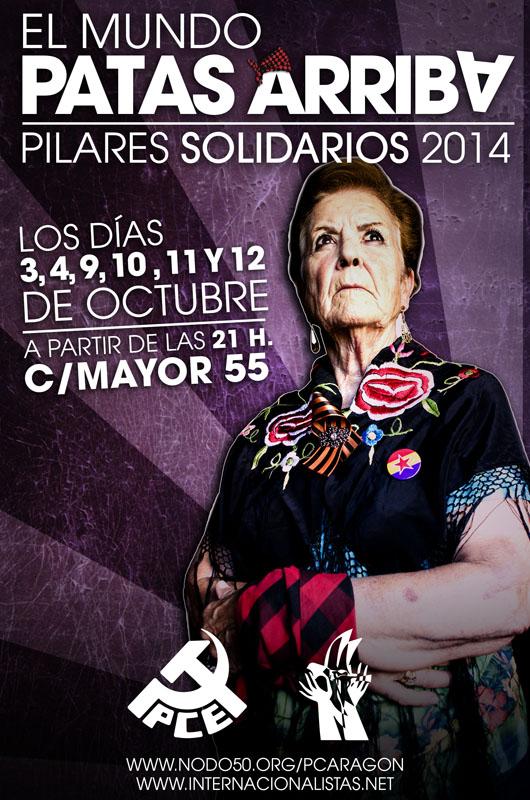 """Pilares Solidarios con """"El Mundo patas arriba"""", las barras del PCE Aragón y Comité Internacionalista"""