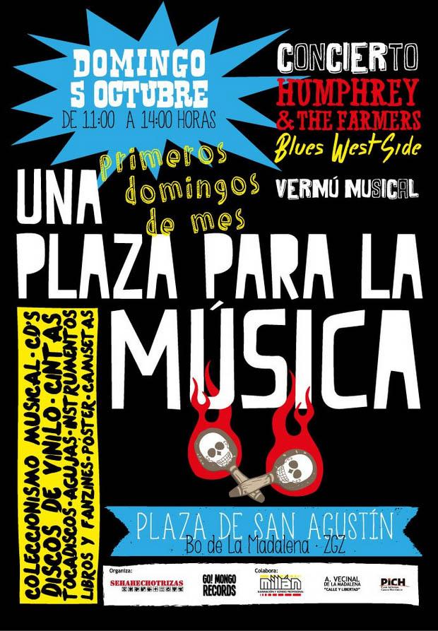 La plaza San Agustín se cita con el coleccionismo musical en «Una plaza para la Música»