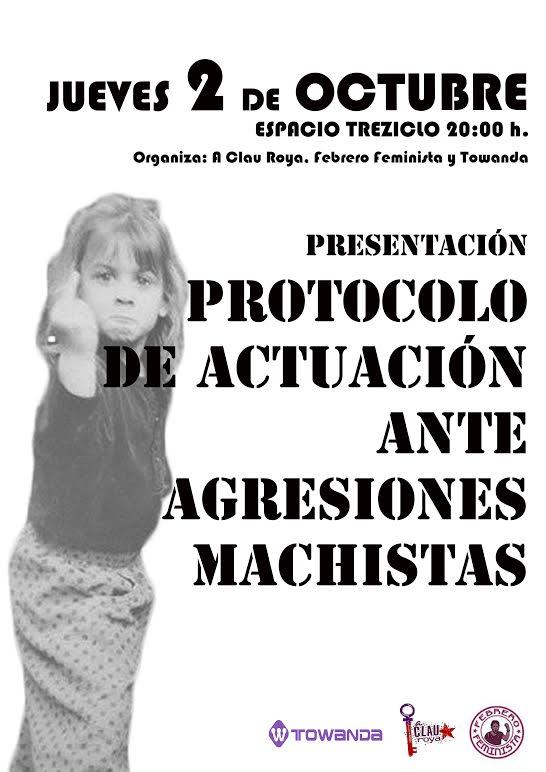 """Presentación del """"Protocolo de actuación ante agresiones machistas"""""""