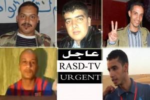 Cinco de los seis jóvenes saharauis. Los seis han sido liberados. Foto: RASD TV