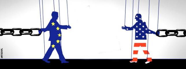 Cartel de la campaña contra el Tratado de Libre Comercio.