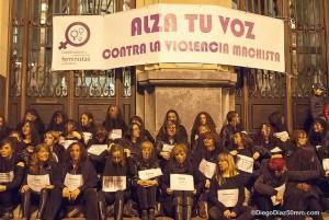 Imagen de la concentración en Zaragoza. Foto: Diego Díaz (AraInfo) [Galería]