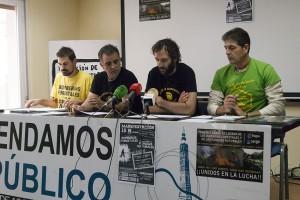 Imagen de la rueda de prensa de este jueves. Foto: Diego Díaz (AraInfo)