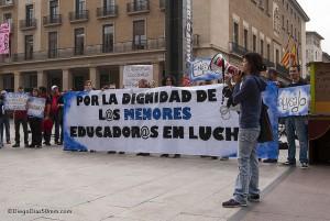 Protesta del COA el viernes 31 de octubre. Foto: Diego Díaz (AraInfo)