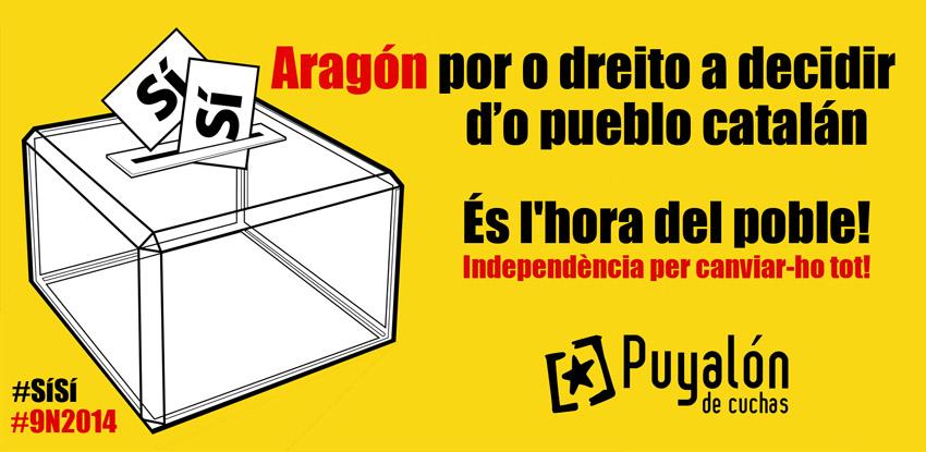 Una delegación de Puyalón de Cuchas viajará a Catalunya el 9N para participar y apoyar la consulta catalana por la independencia