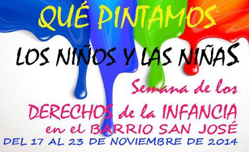 """San José celebra la semana de los derechos de la infancia con el lema """"Qué pintamos los niños y las niñas"""""""