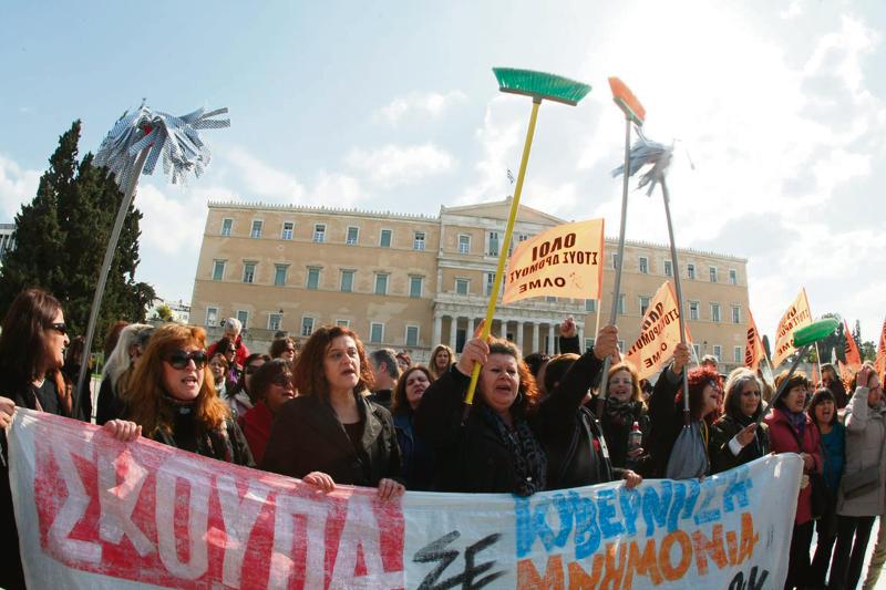 Un año de lucha de las trabajadoras de limpieza griegas