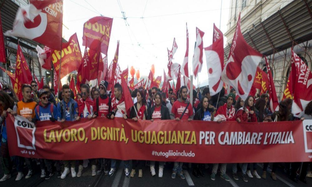 Italia. La clase trabajadora ha vuelto. ¡Un millón en la calle!