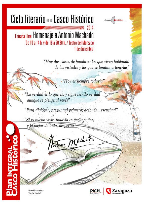 El Casco Histórico de Zaragoza rinde homenaje a Antonio Machado
