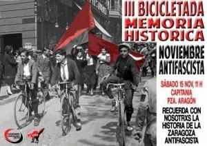 Cartel de la III Bicicletada Memoria Histórica.