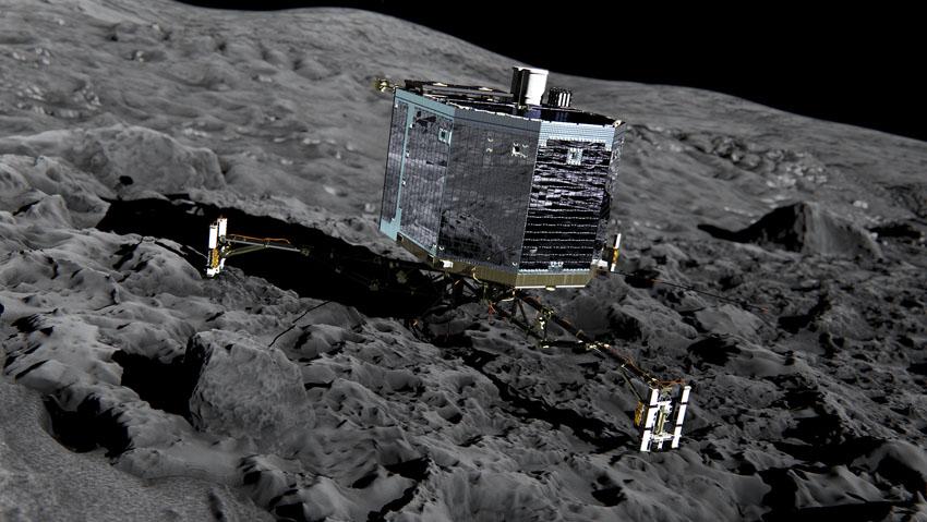 Por primer vegada, un artefacto espacial aterriza en un cometa