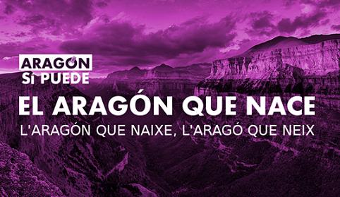 """Algunos círculos de Podemos Aragón impulsan la marca electoral """"Aragón sí puede"""""""