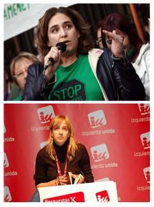 Ada Colau y Tania Sánchez.