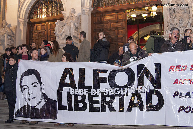 Alfon cumple un año en la cárcel