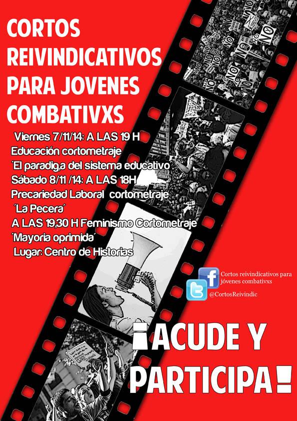 """Organizaciones juveniles zaragozanas organizan el ciclo """"Cortos reivindicativo para jóvenes combativxs"""""""