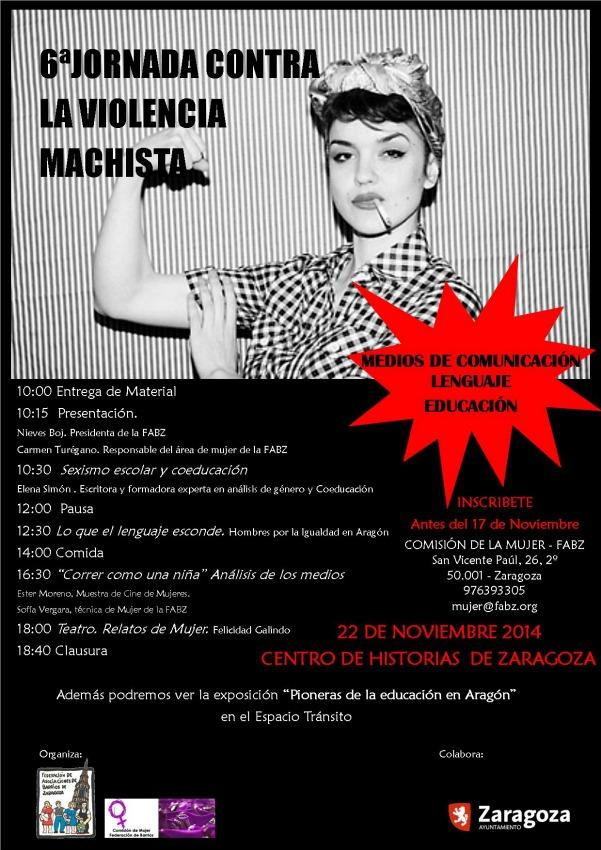 Zaragoza celebra la VI Jornada contra la Violencia Machista