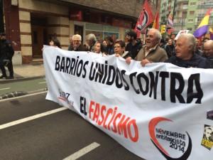 Imagen de la pasada manifestación antifascista de Zaragoza. Foto: @arainfonoticias