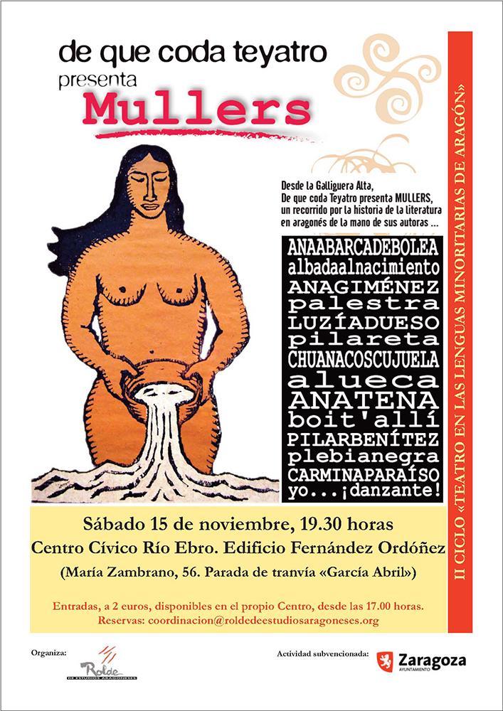 """A obra de teatro en aragonés """"Mullers"""" se representará en Zaragoza iste sabado"""