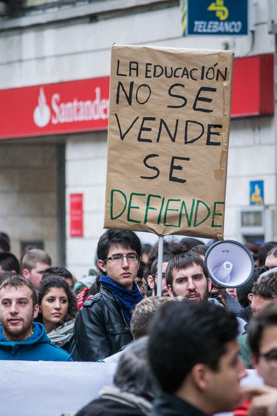 Huelga estudiantil ante el último dislate de Wert