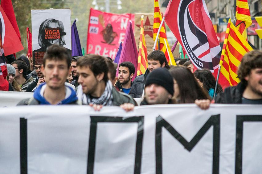 Éxito de la Huelga Estudiantil en Aragón: contra la Lomce y exigiendo la dimisión de Serrat