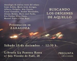Cartel del acto en La Pantera Rossa.