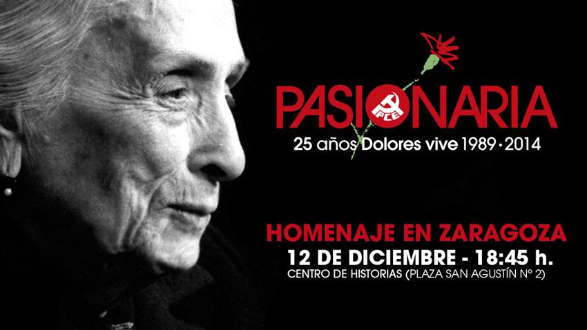 El PCE Aragón recuerda a 'Pasionaria' en el 25 aniversario de su muerte