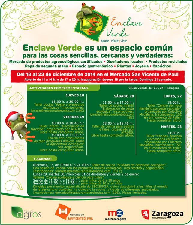Entidades del Mercado Social Aragón montarán puestos en el Mercado San Vicente de Paúl