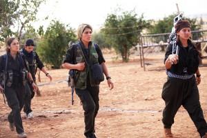 Milicianas kurdas de Kobane. Foto: Sedat Sur
