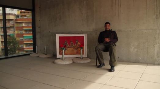 """El artista saharaui Moulud Yeslem lleva el proyecto """"Arte contra el Muro"""" a San José"""