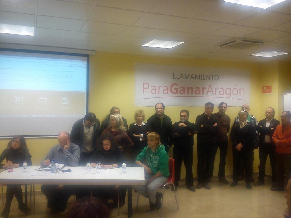 """Movimientos ciudadanos presentan 'Para Ganar Aragón': """"Queremos una sola papeleta donde quepan todos nuestros sueños"""""""