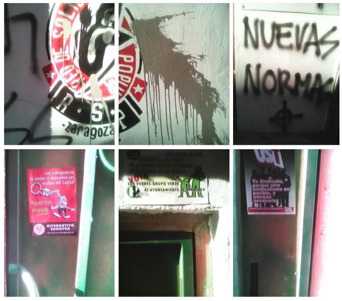 Ataque neonazi a la Red de Solidaridad Popular de Zaragoza