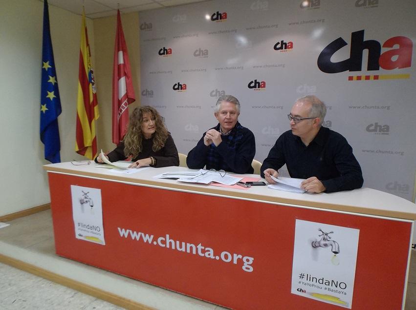 CHA presenta enmiendas por valor de 3.500.000 euros al presupuesto del Ayuntamiento de Uesca