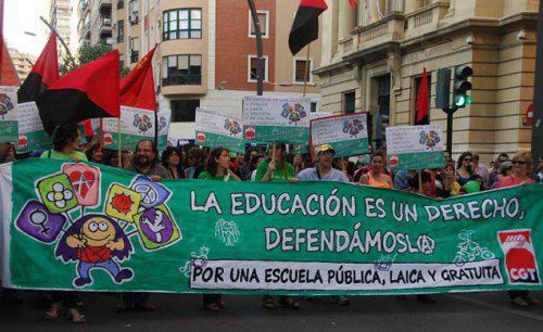"""14 de marzo, el Frente Anti LOMCE organiza un nuevo """"sábado verde"""" contra la Ley Orgánica para la Mejora de la Calidad Educativa"""