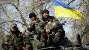 Tropas del ejército de Kiev.