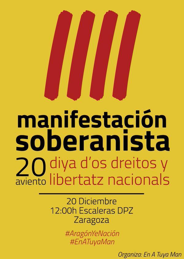 """La plataforma 'En A Tuya Man' llama a la ciudadanía aragonesa a movilizarse por """"un marco propio de decisión"""""""